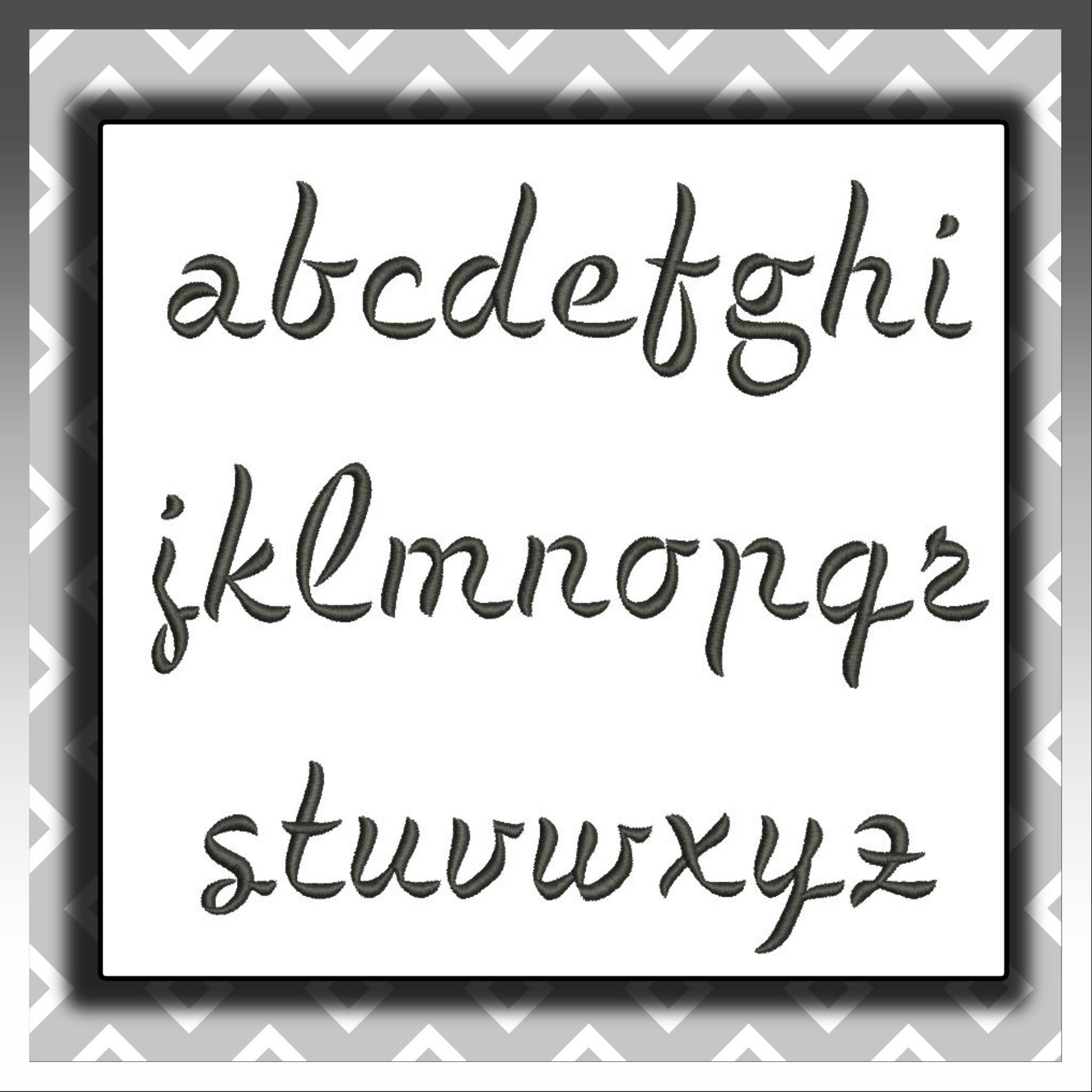 Black Mod Font sm a-z
