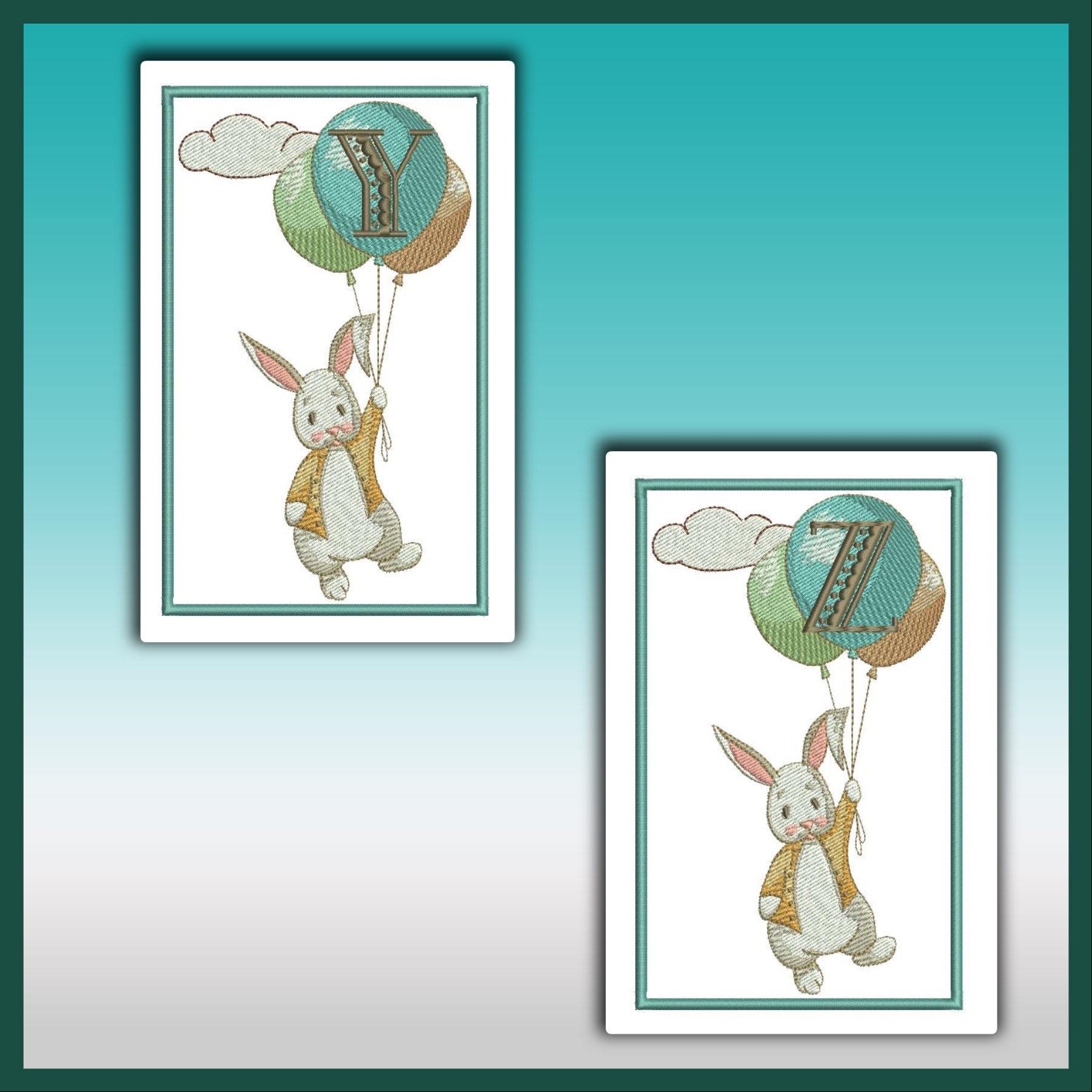 Bunny Up And Away Font YZ