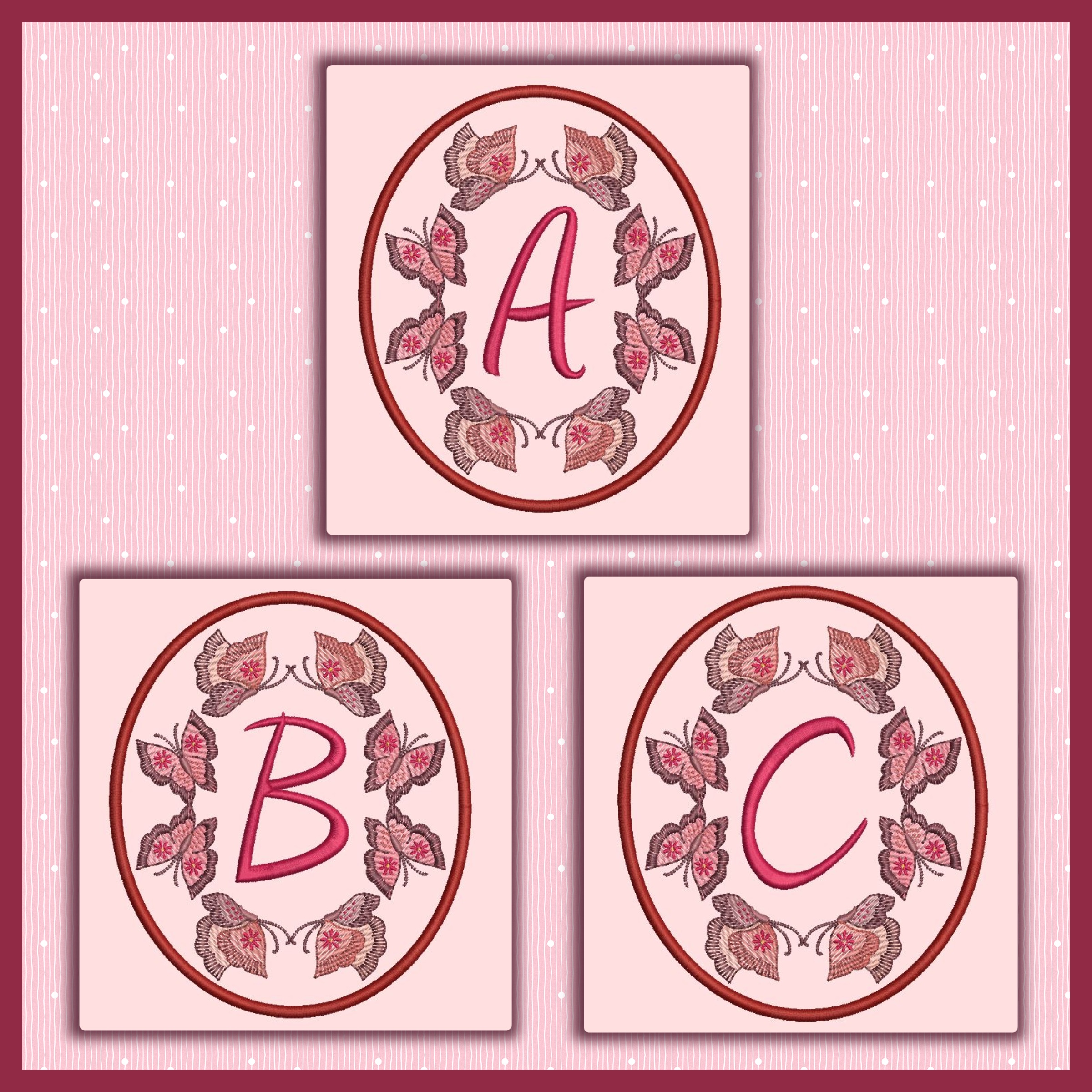 Butterfly Oval Font ABC
