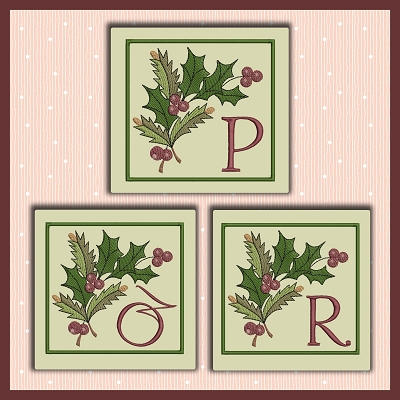 Holiday Berries Font PQR