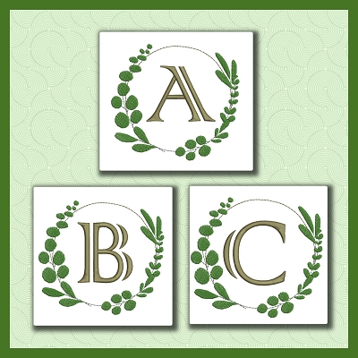 Leafy Round Font ABC