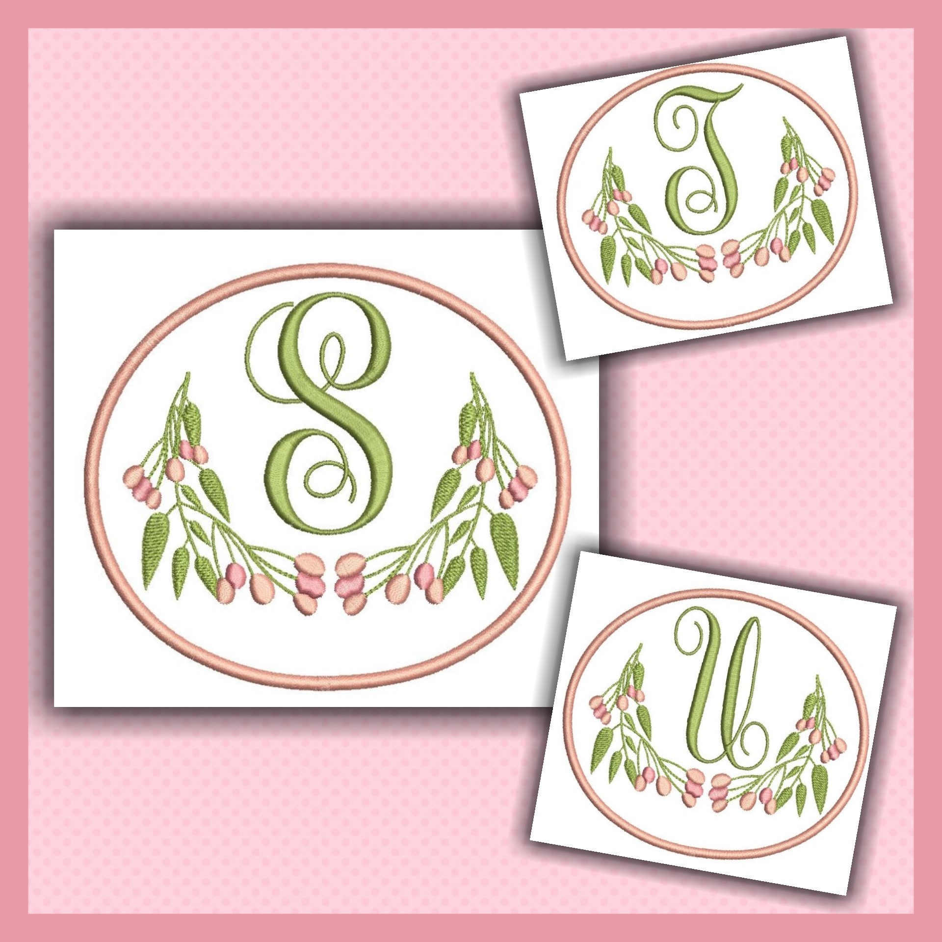 Pink Berry Monogram STU