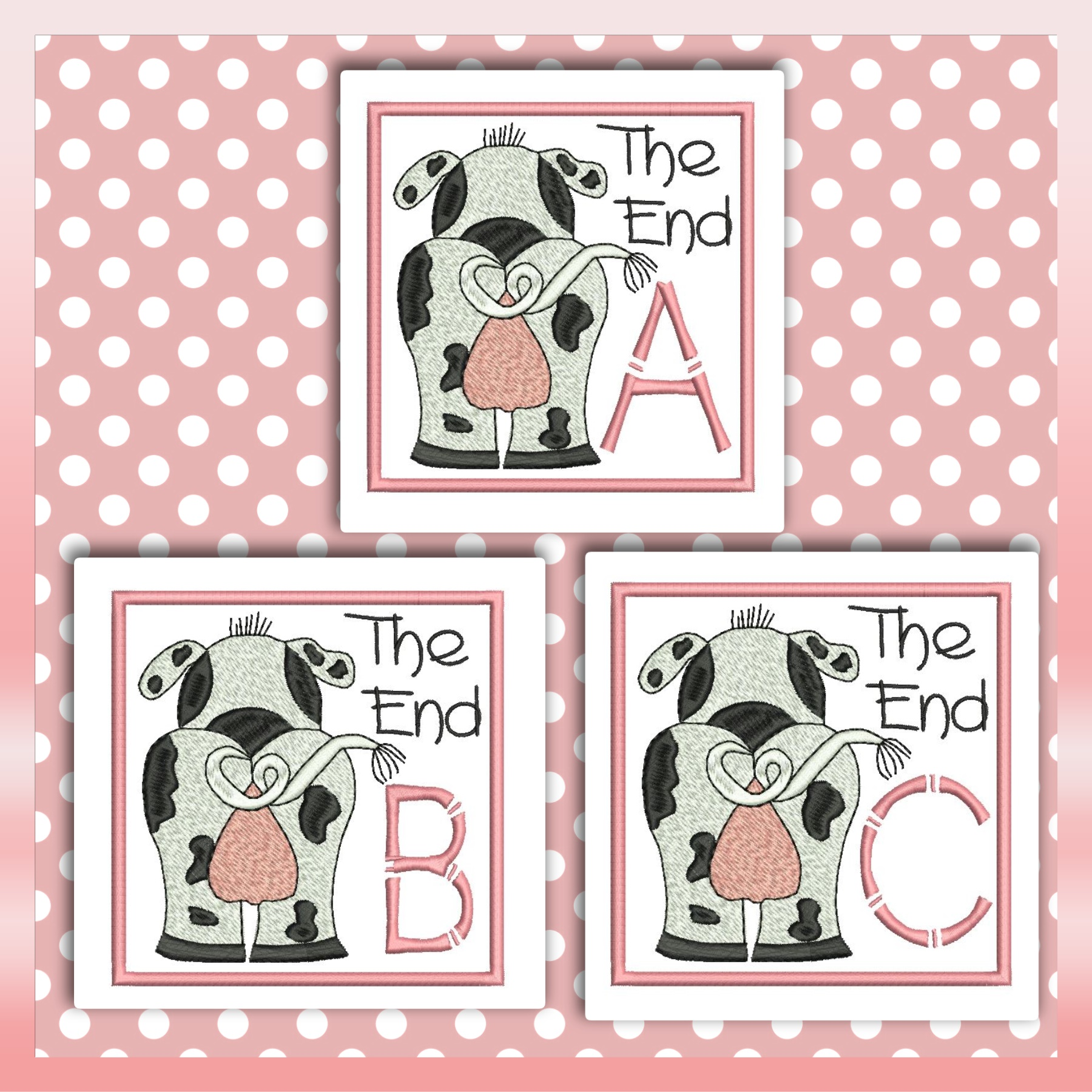 The End Cow Font ABC