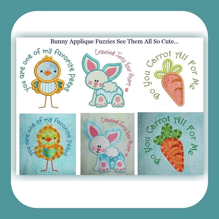 Bunny Applique Fuzzies