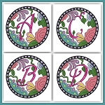 Circle Of Flowers Monogram