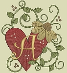 Hearts & Flowers Monogram A to Z