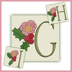 Holiday Flower Font GHI