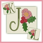 Holiday Flower Font JKL