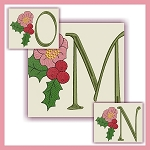 Holiday Flower Font MNO