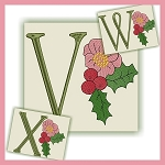 Holiday Flower Font VWX