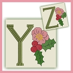 Holiday Flower Font YZ