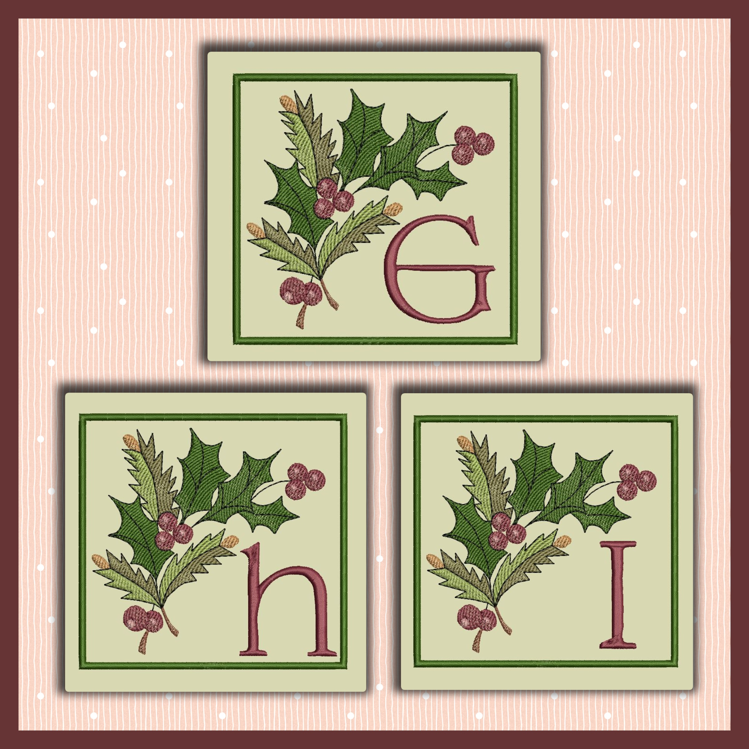 Holiday Berries Font GHI