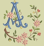 Floral Monogram A to Z