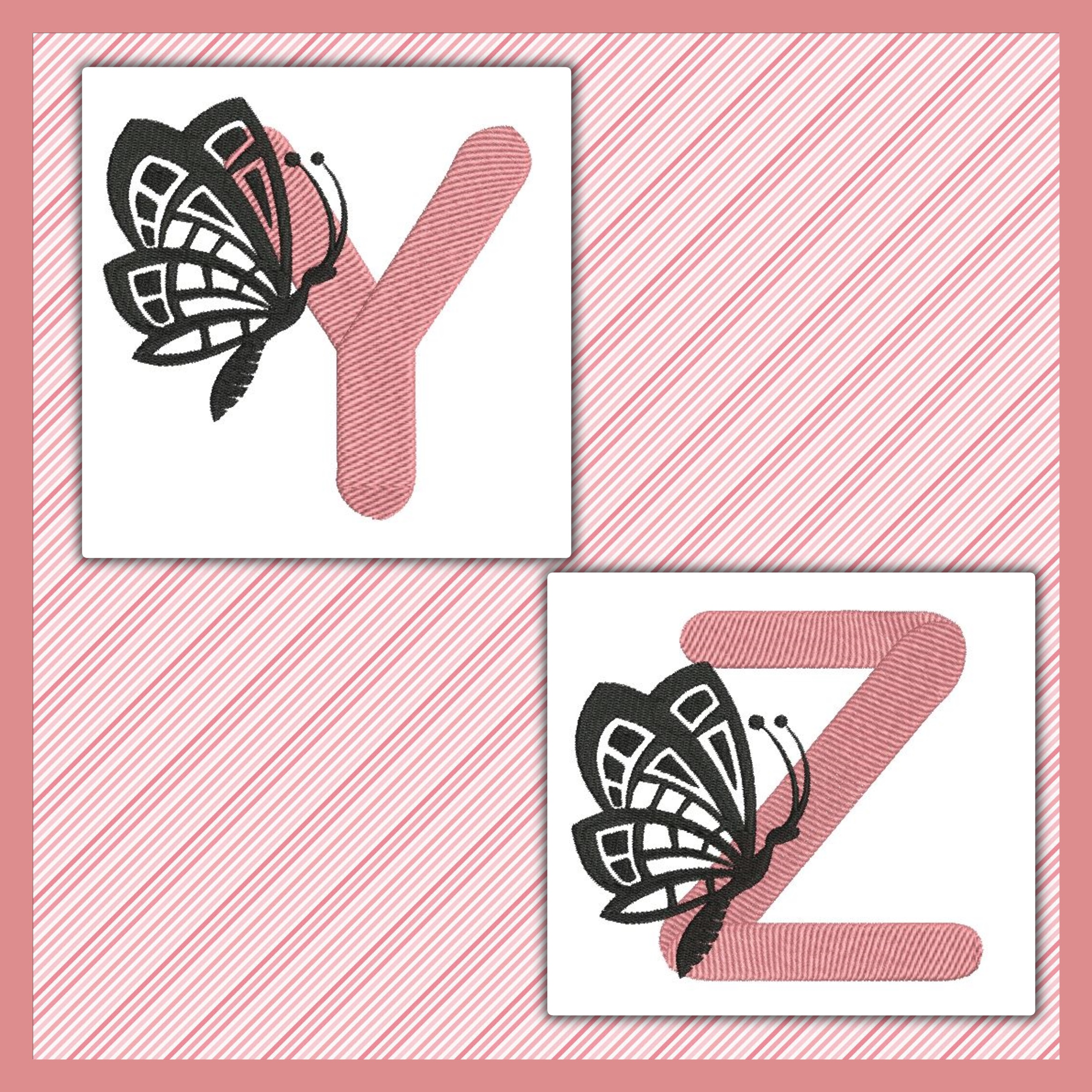 Pink And Black Butterfly Font YZ