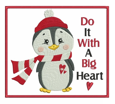 Cute Heart Penguin Set