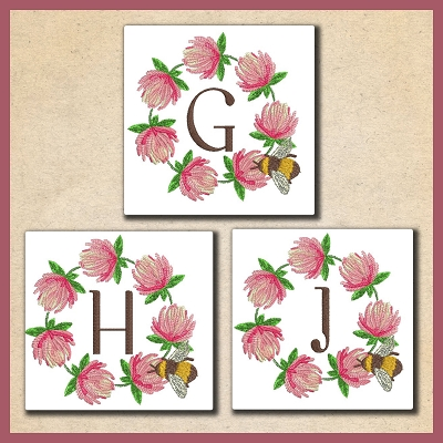 Clover Bee Font 2 GHI