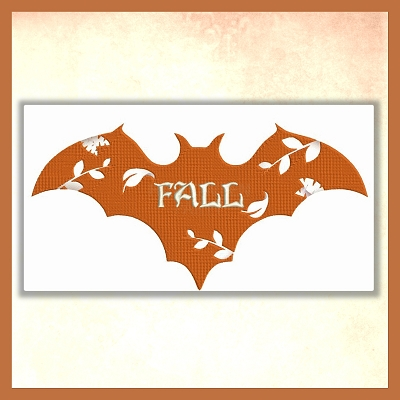 Fancy Flower Bat Font Set