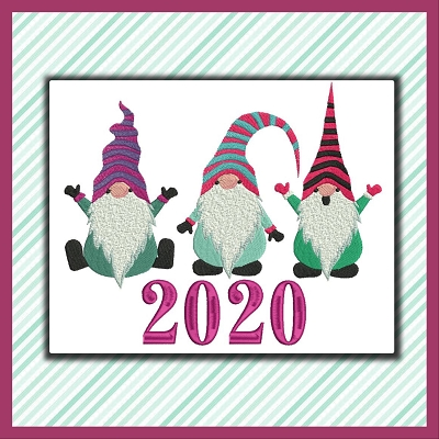 Gnomes In Stripes Calendar Set 2020