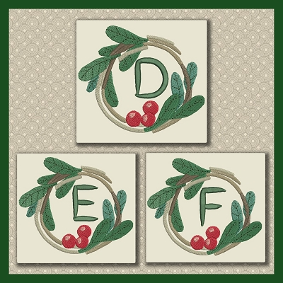 Holly Wreath Font DEF