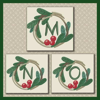 Holly Wreath Font MNO