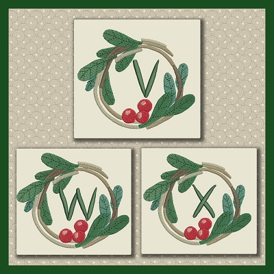 Holly Wreath Font VWX