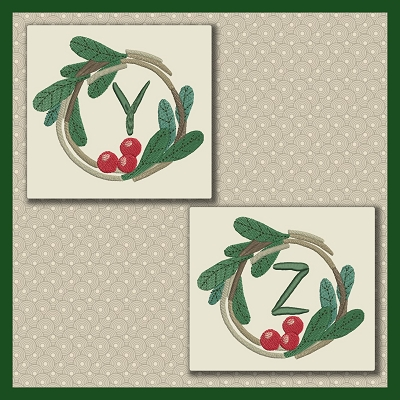 Holly Wreath Font YZ
