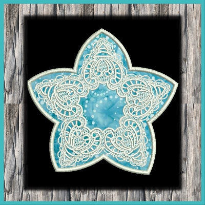 Lace Star Applique Set