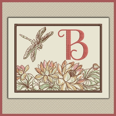 Lotus Flower Dragonfly Font