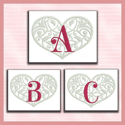 Love Heart Font ABC