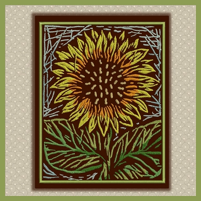 Sunflower Background Set