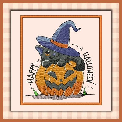 Witch Pumpkin Cat Font A-Z