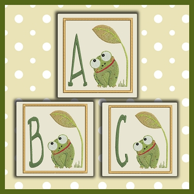 Baby Frog Font ABC
