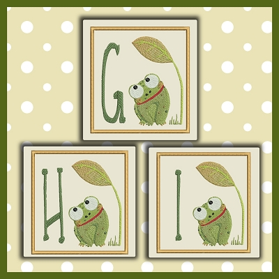 Baby Frog Font GHI