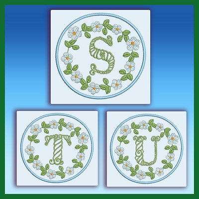 Blue And Green Monogram STU