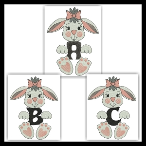 Bunny Floating Font ABC