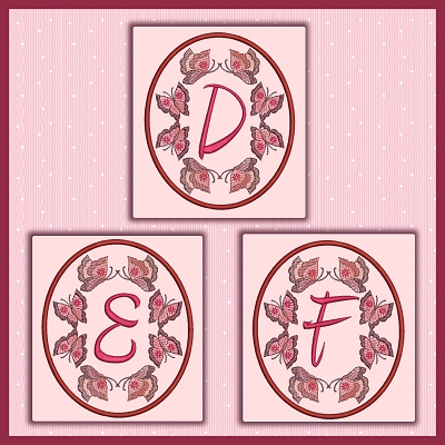 Butterfly Oval Font DEF