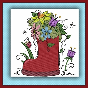 Flower Boot Stitches Single