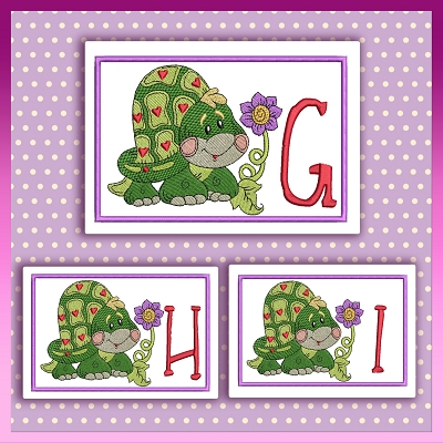 Heart Turtle Font GHI