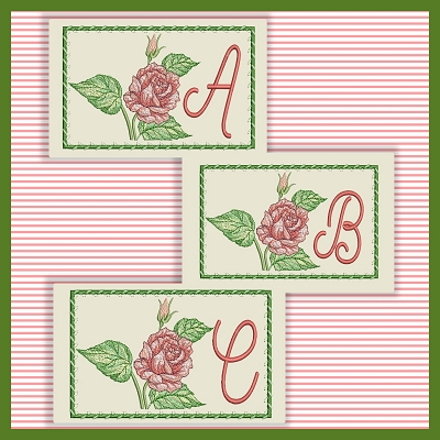 Just A Rose Font ABC