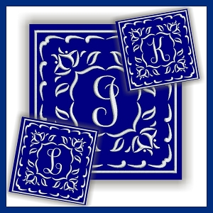 One Color Monogram JKL