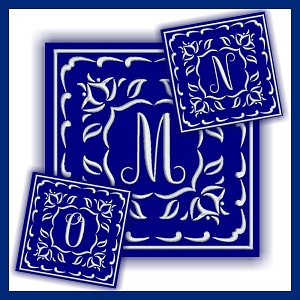 One Color Monogram MNO