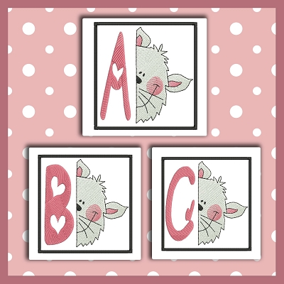 Peek Kitty Font ABC
