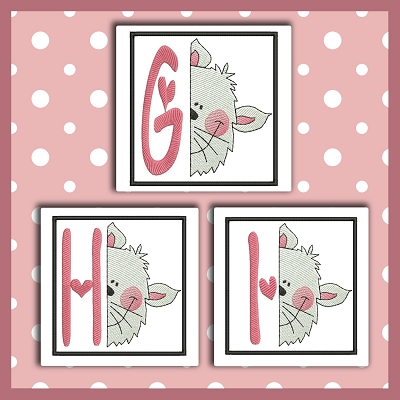 Peek Kitty Font GHI