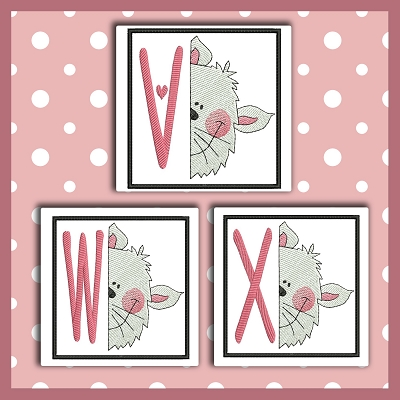 Peek Kitty Font VWX