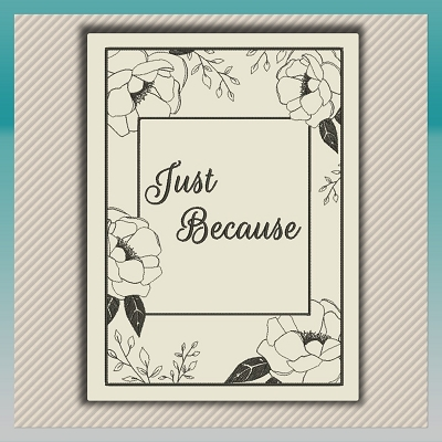 Rose Message Card + Font
