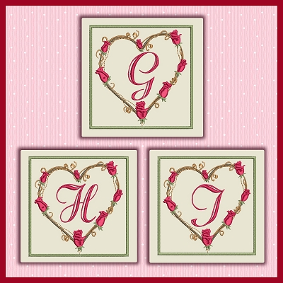 Twig Heart Font GHI