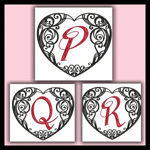 Black and Red Heart PQR