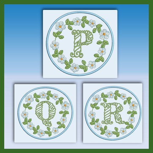 Blue And Green Monogram PQR