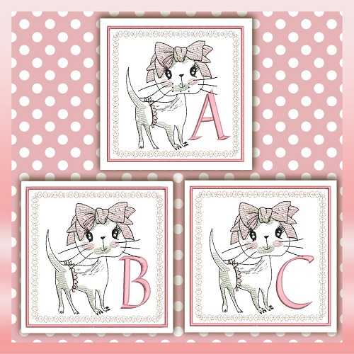 Bow Cat Font ABC