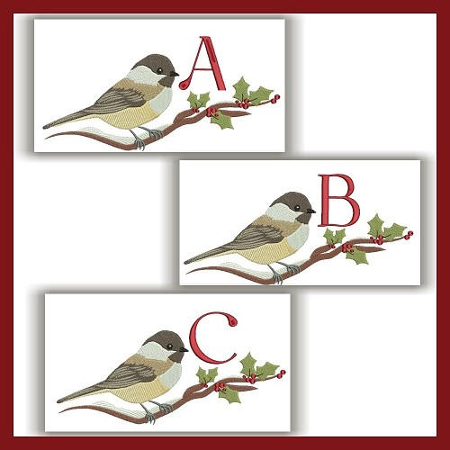 Chickadee Monogram ABC